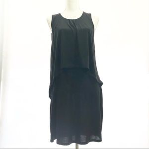 bcbgeneration black overlay dress size small